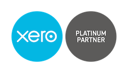 Xero Accounting logo with xebra accounting's black platinum partner symbol.