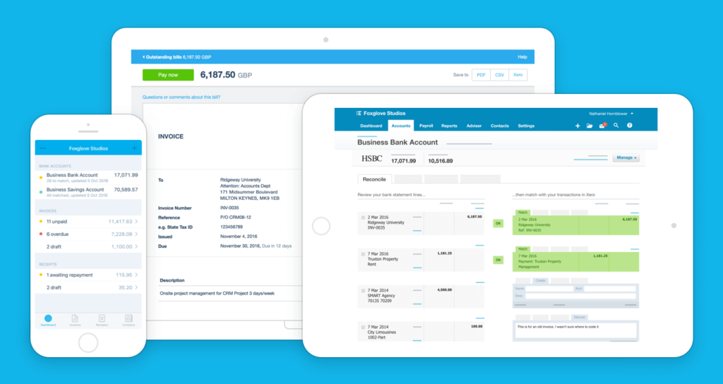 Xero on different devices